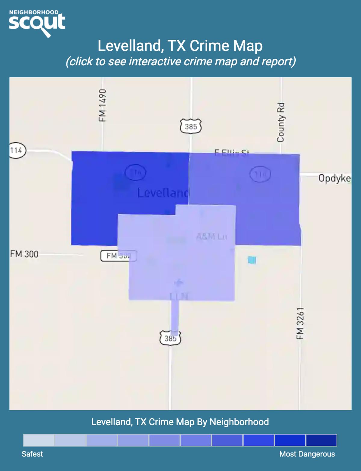 Levelland, Texas crime map