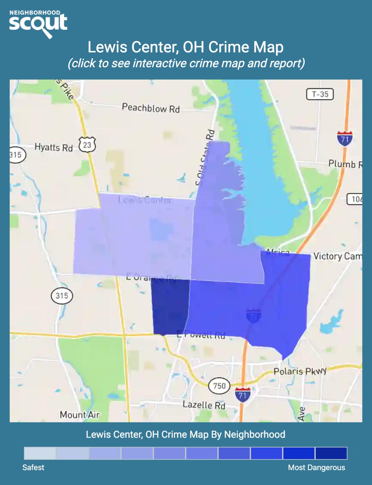 Lewis Center, Ohio crime map