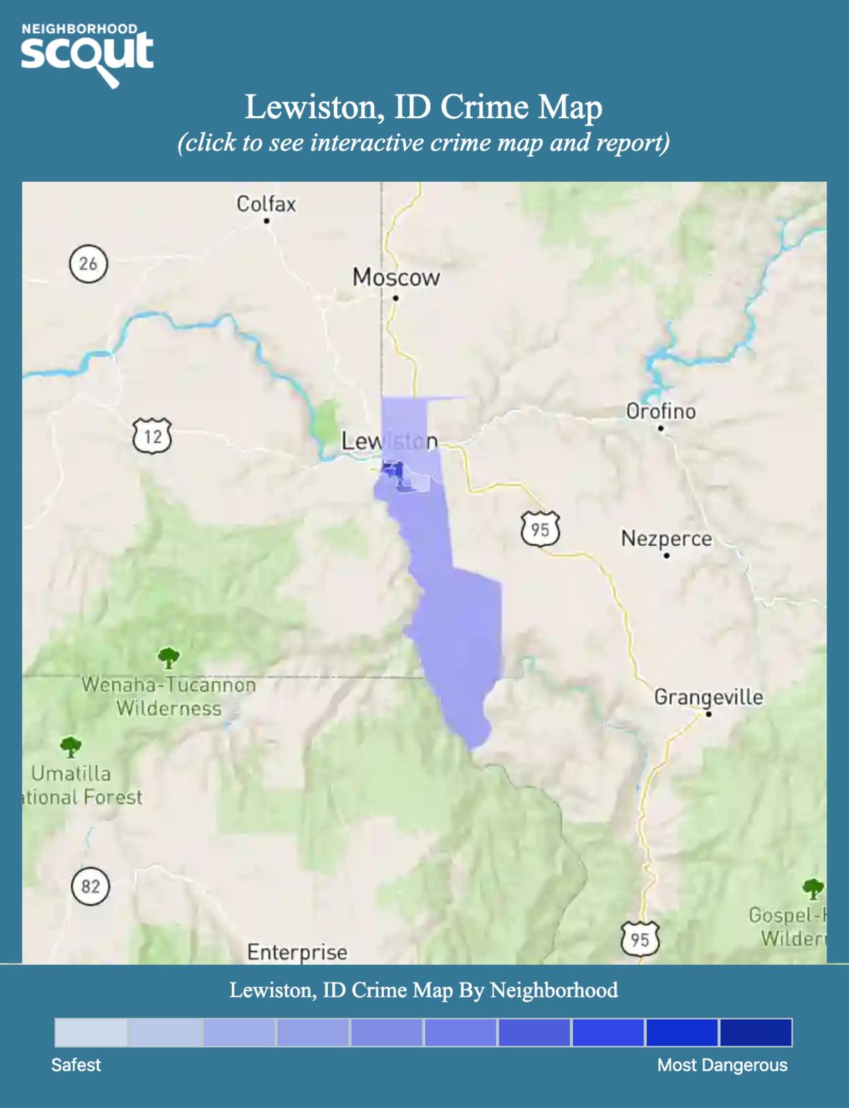 Lewiston, Idaho crime map