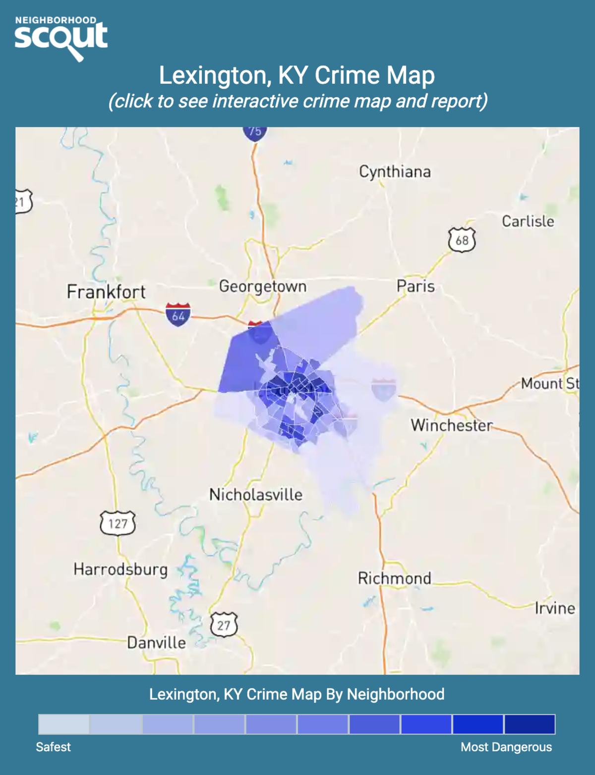 Lexington, Kentucky crime map