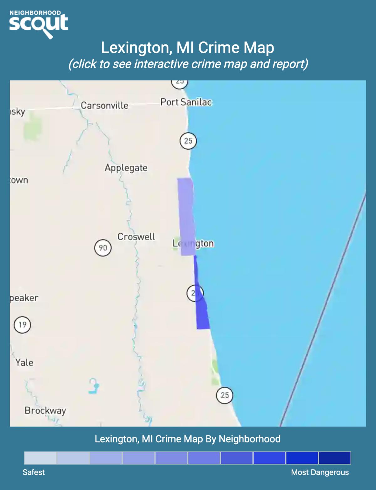 Lexington, Michigan crime map