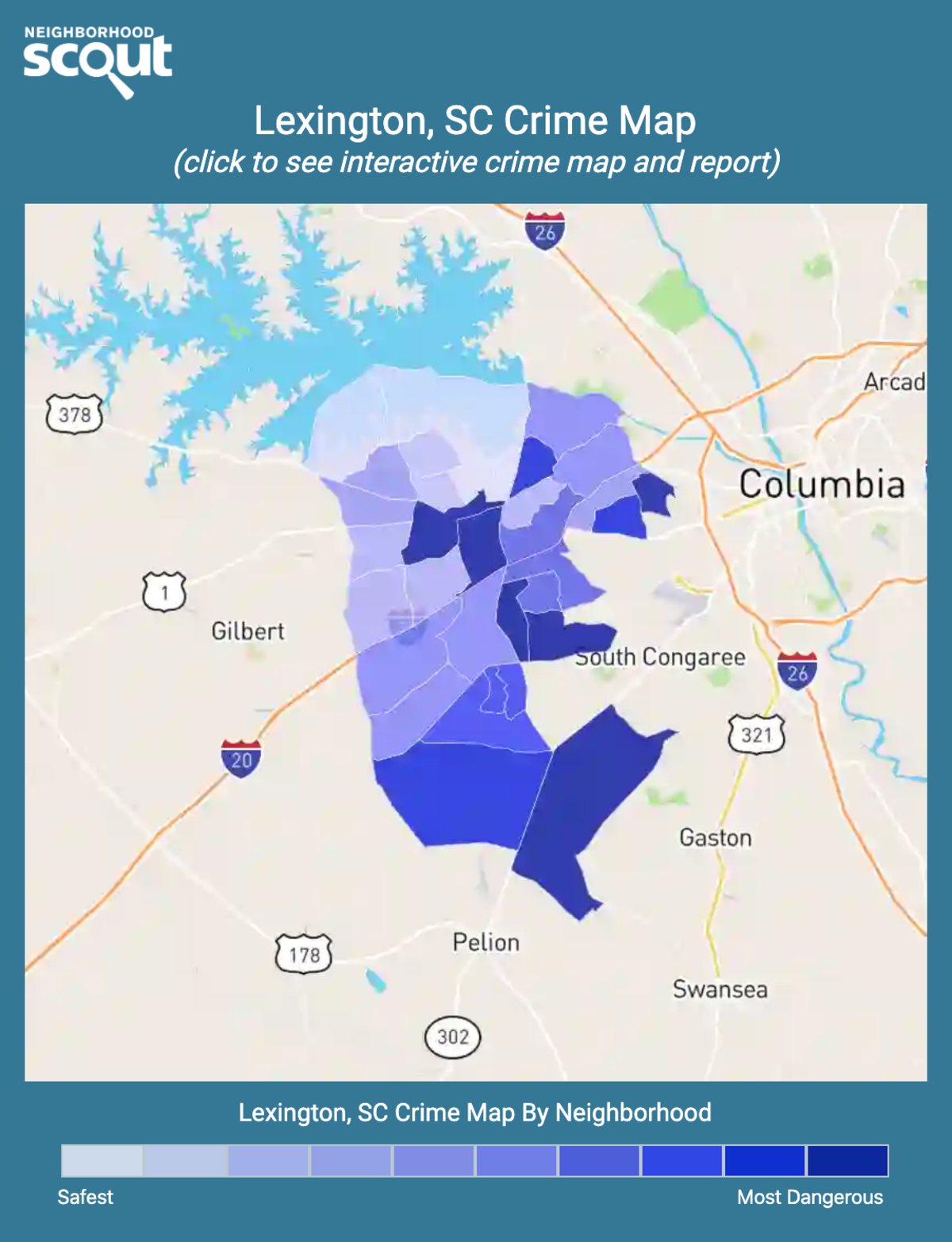 Lexington, South Carolina crime map