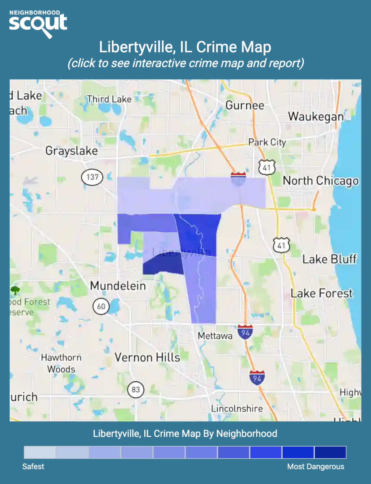 Libertyville, Illinois crime map