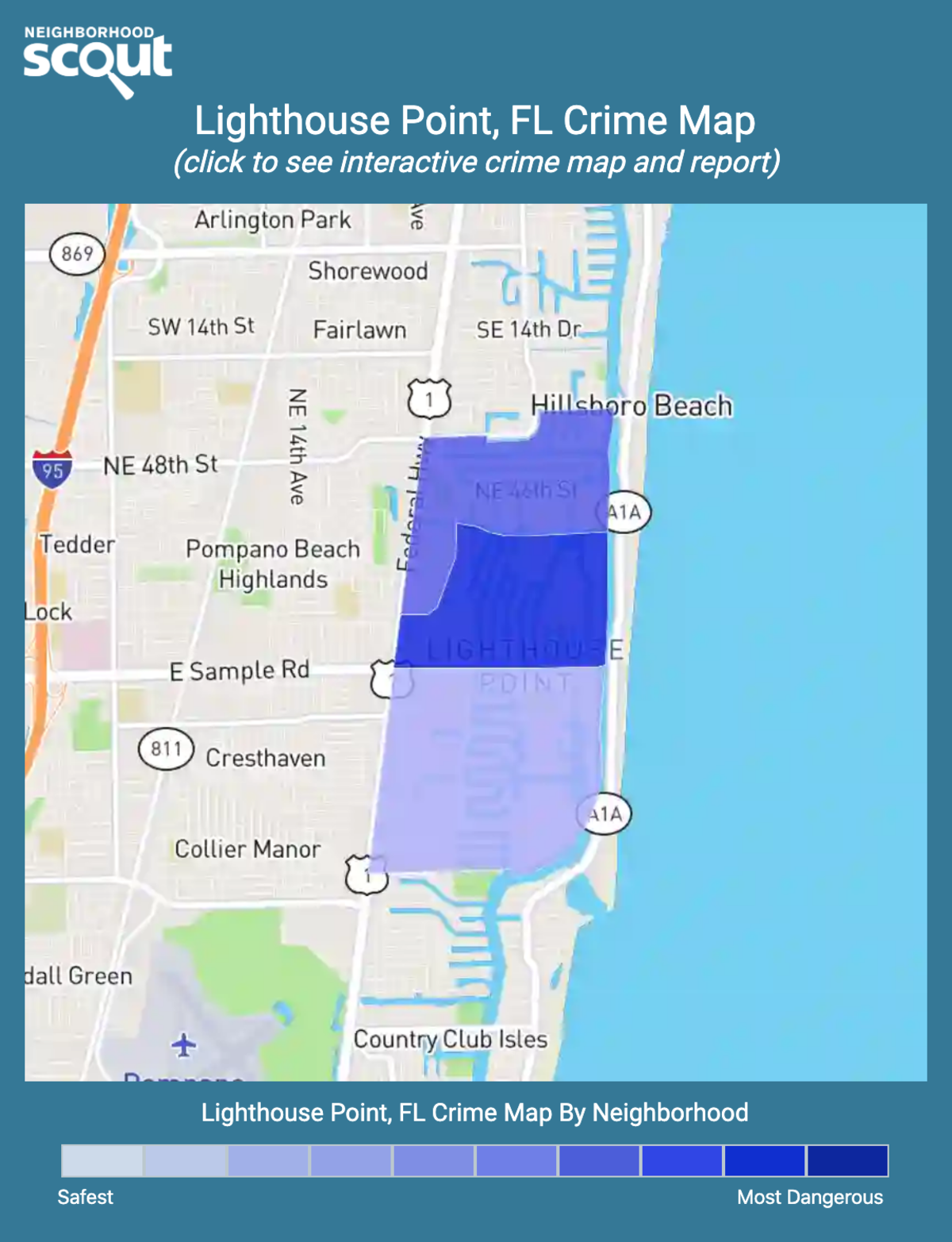 Lighthouse Point, Florida crime map