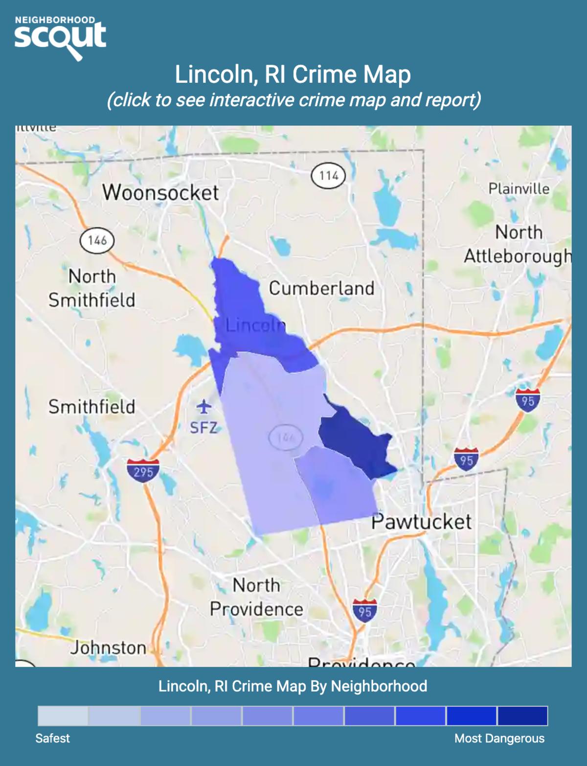 Lincoln, Rhode Island crime map