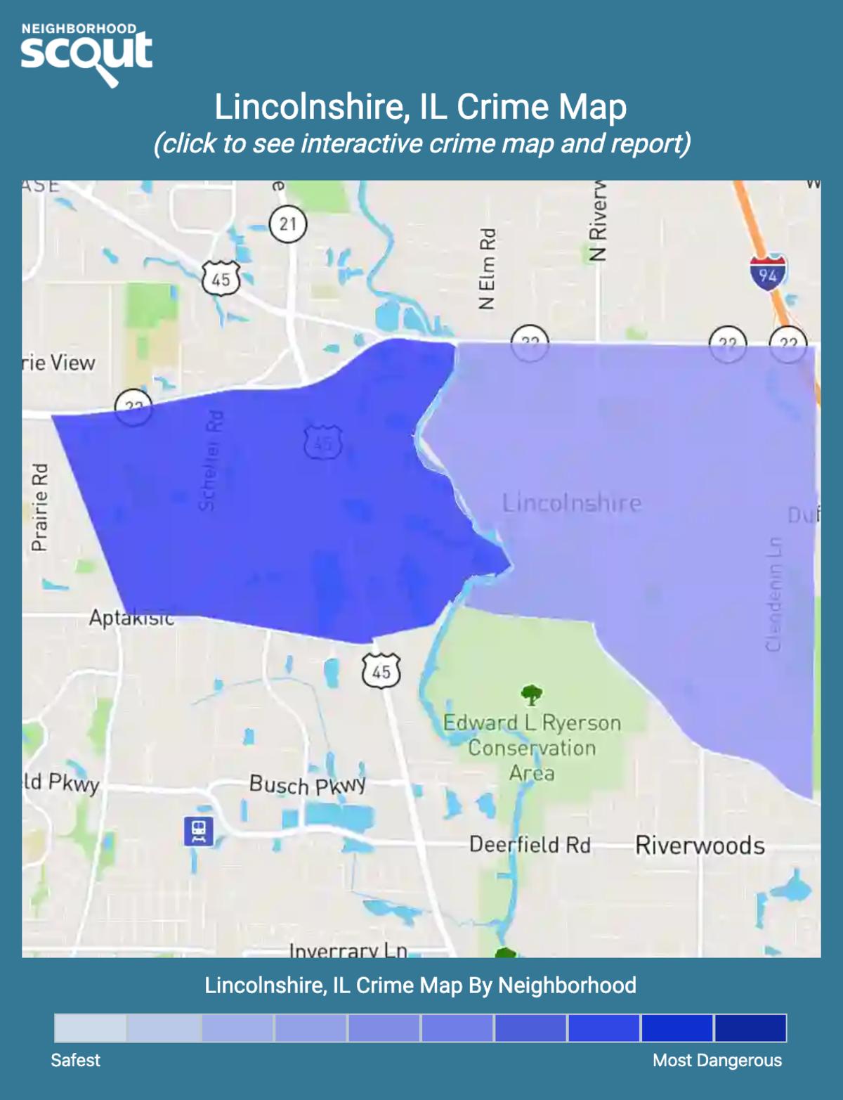 Lincolnshire, Illinois crime map