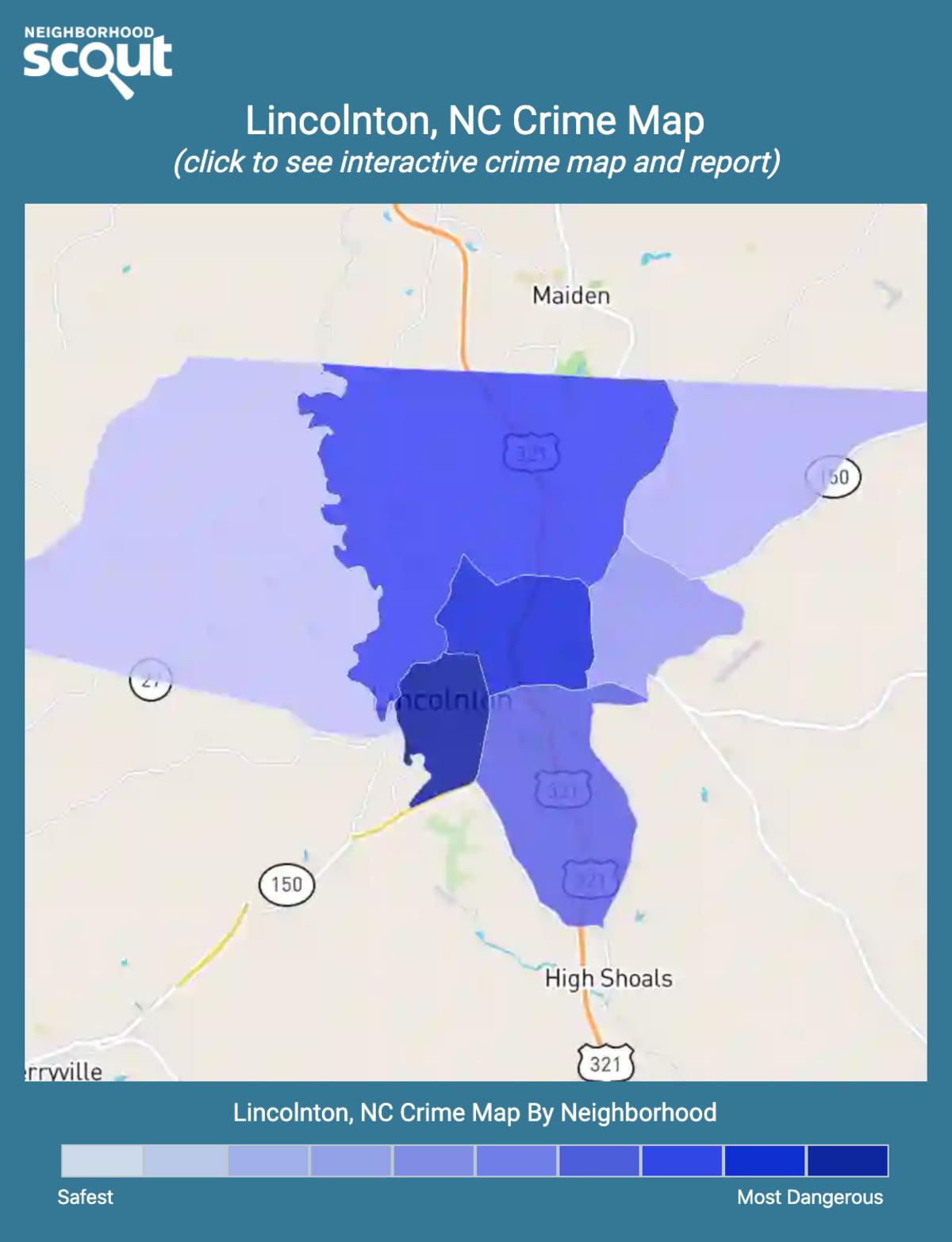 Lincolnton, North Carolina crime map