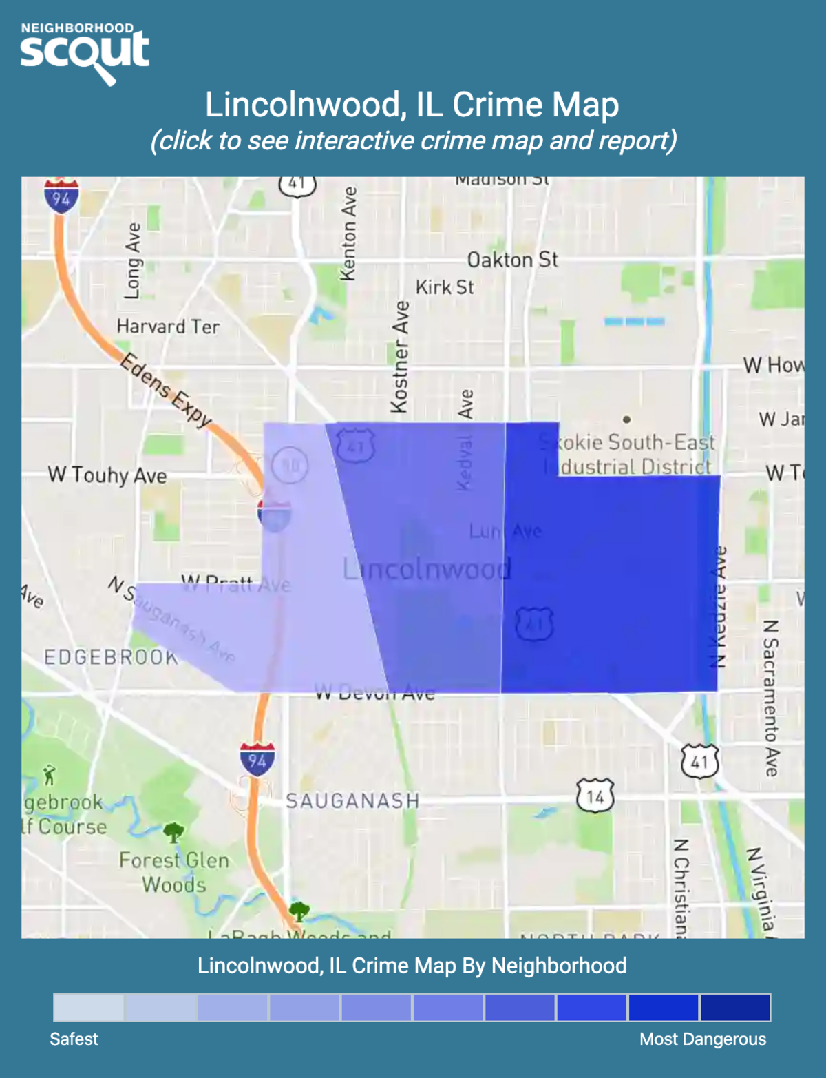 Lincolnwood, Illinois crime map