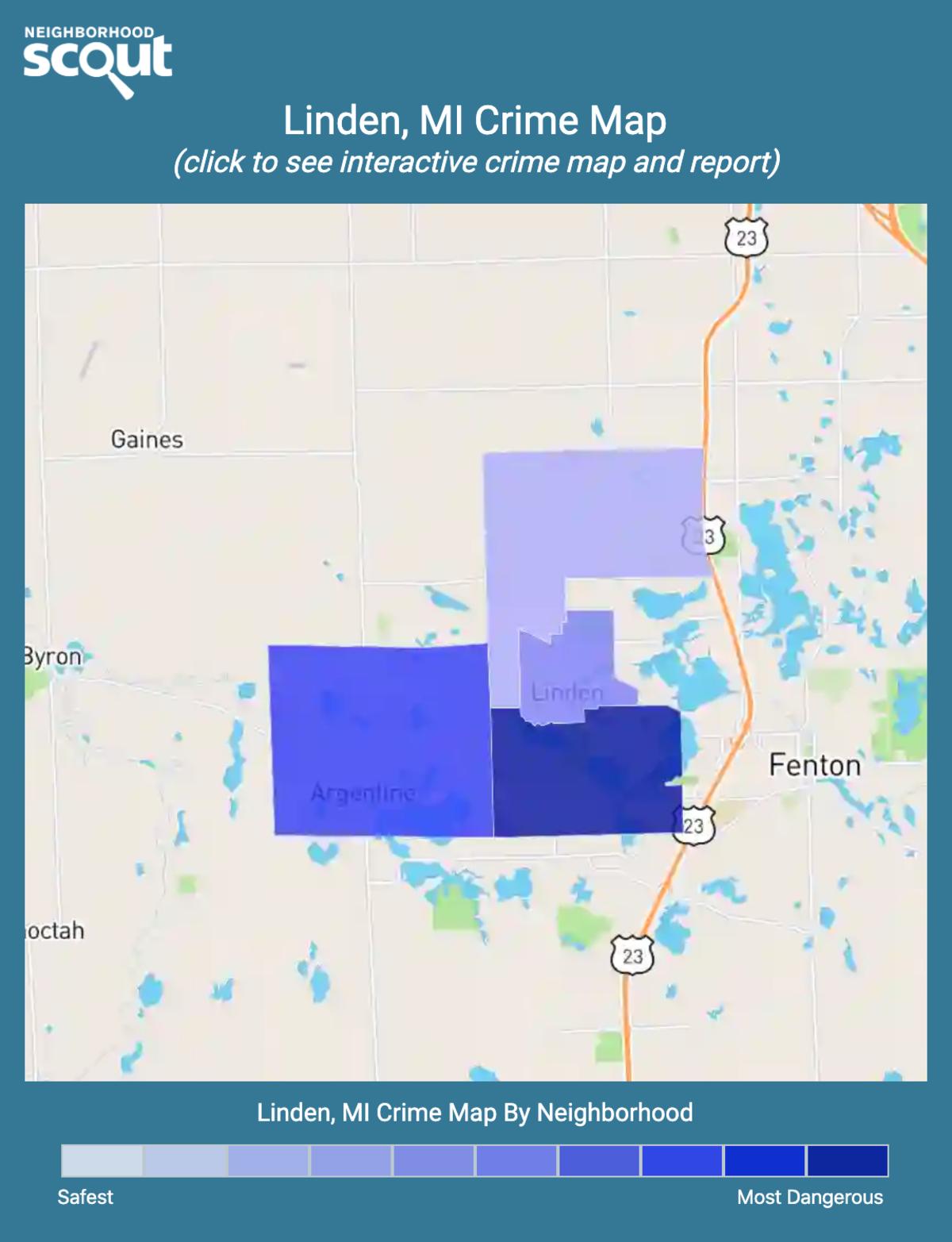 Linden, Michigan crime map