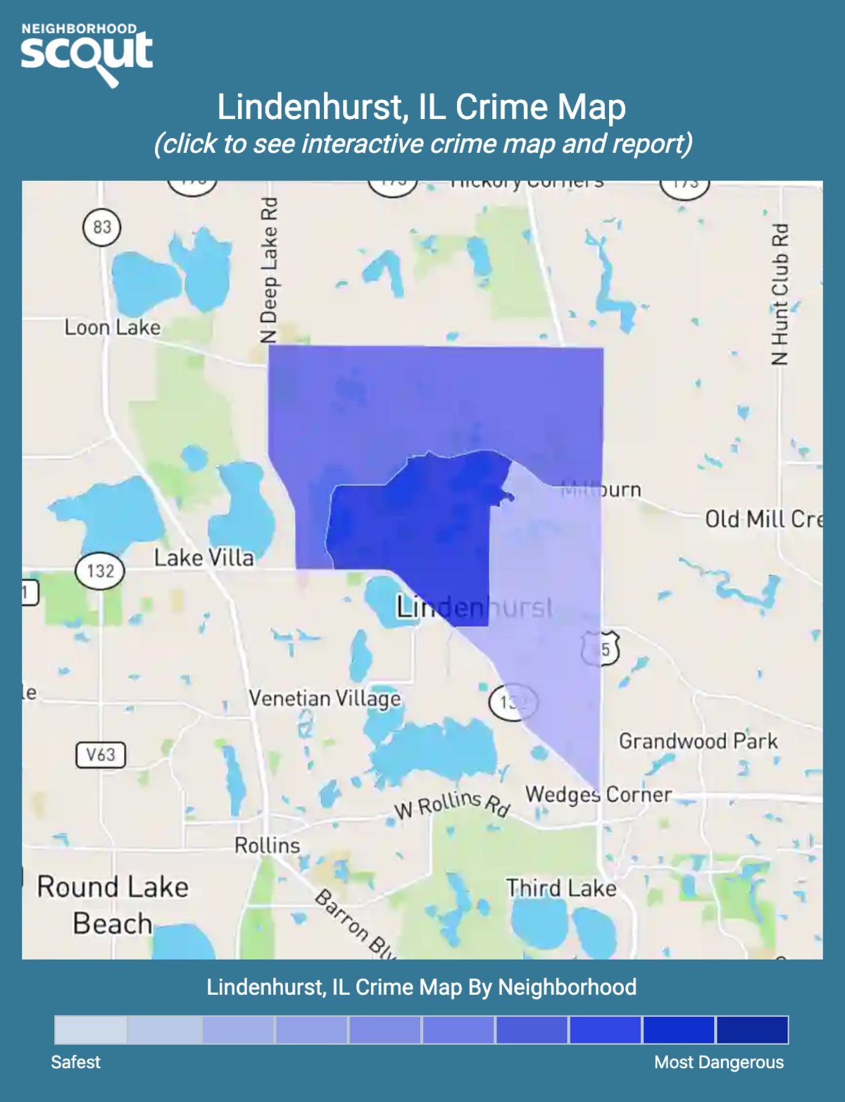 Lindenhurst, Illinois crime map
