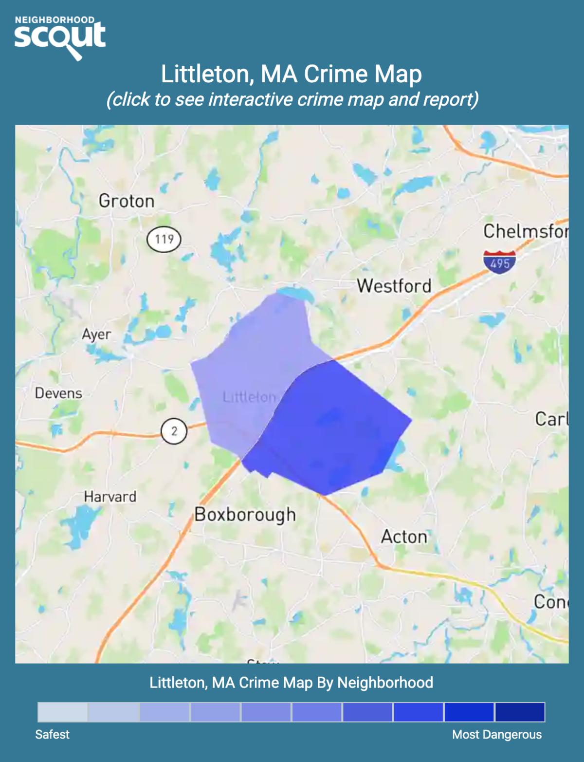 Littleton, Massachusetts crime map