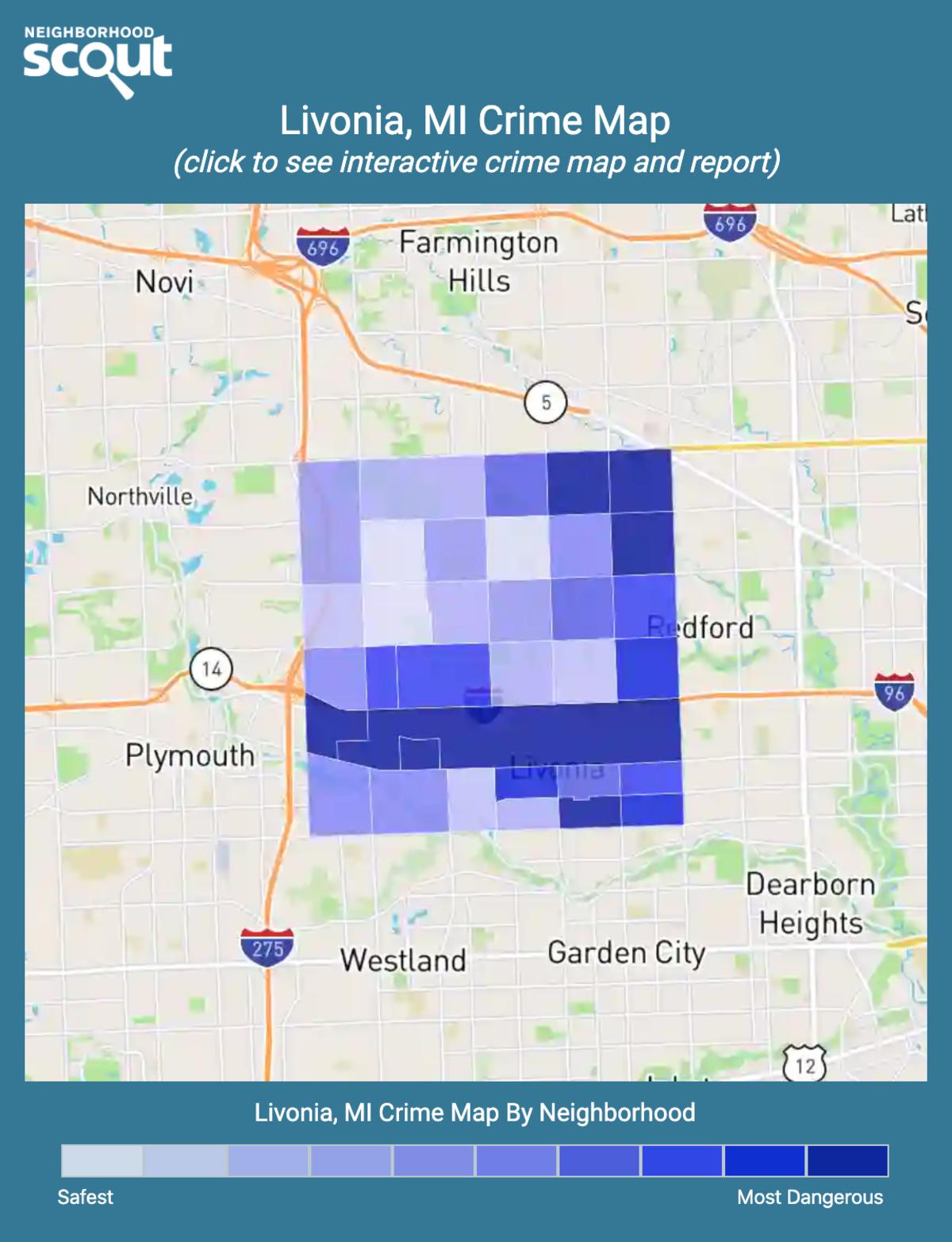 Livonia, Michigan crime map
