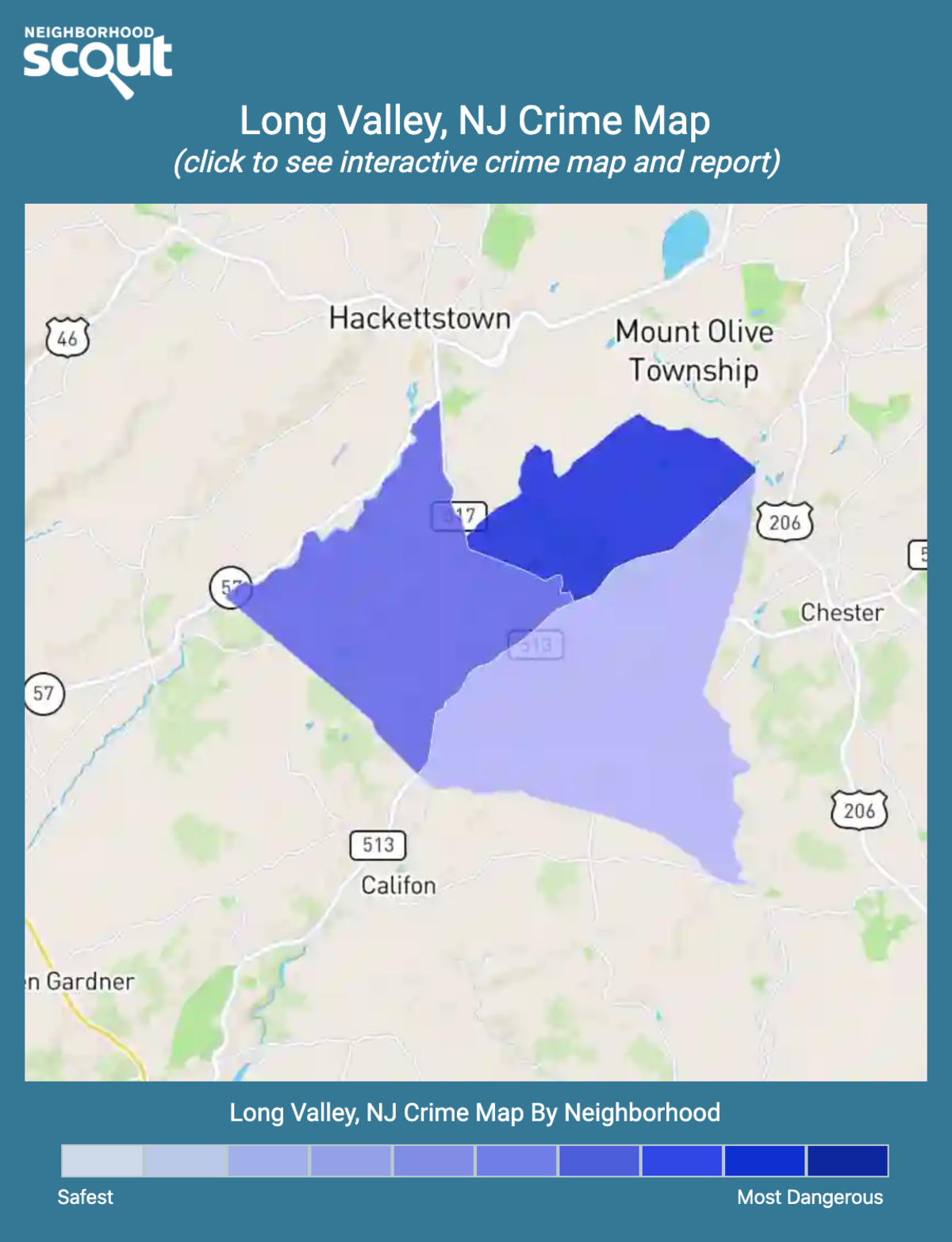 Long Valley, New Jersey crime map