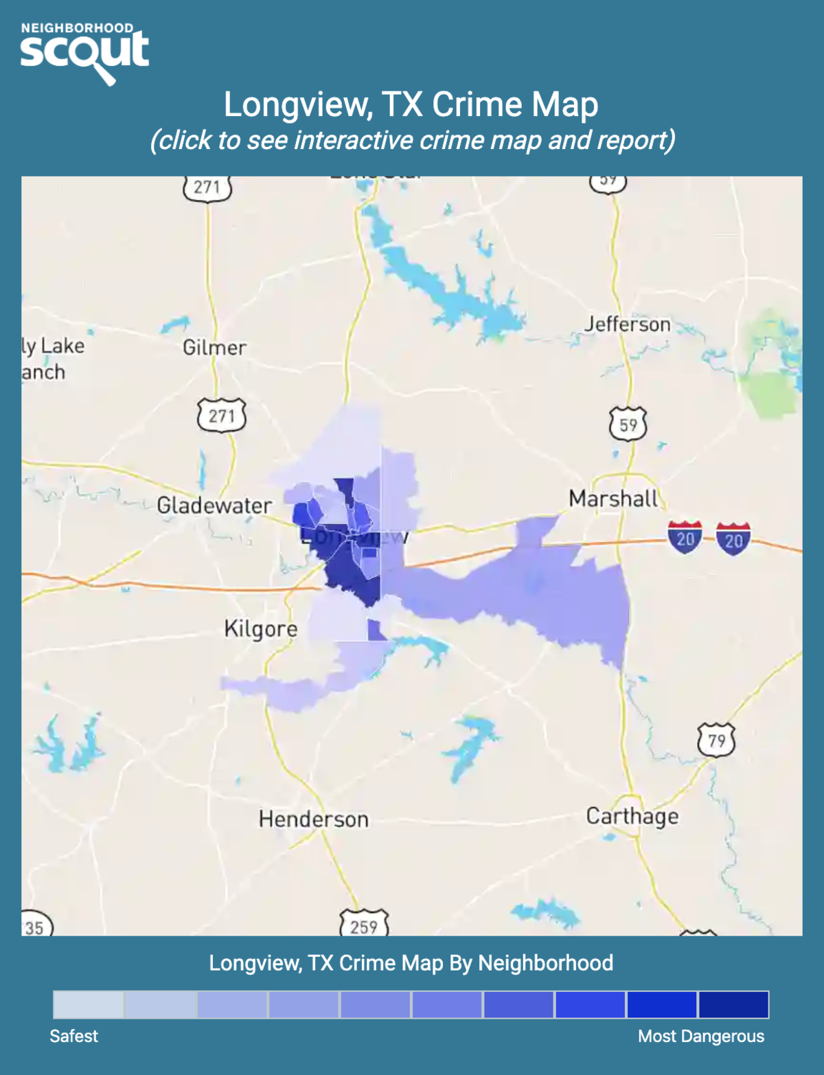 Longview, Texas crime map
