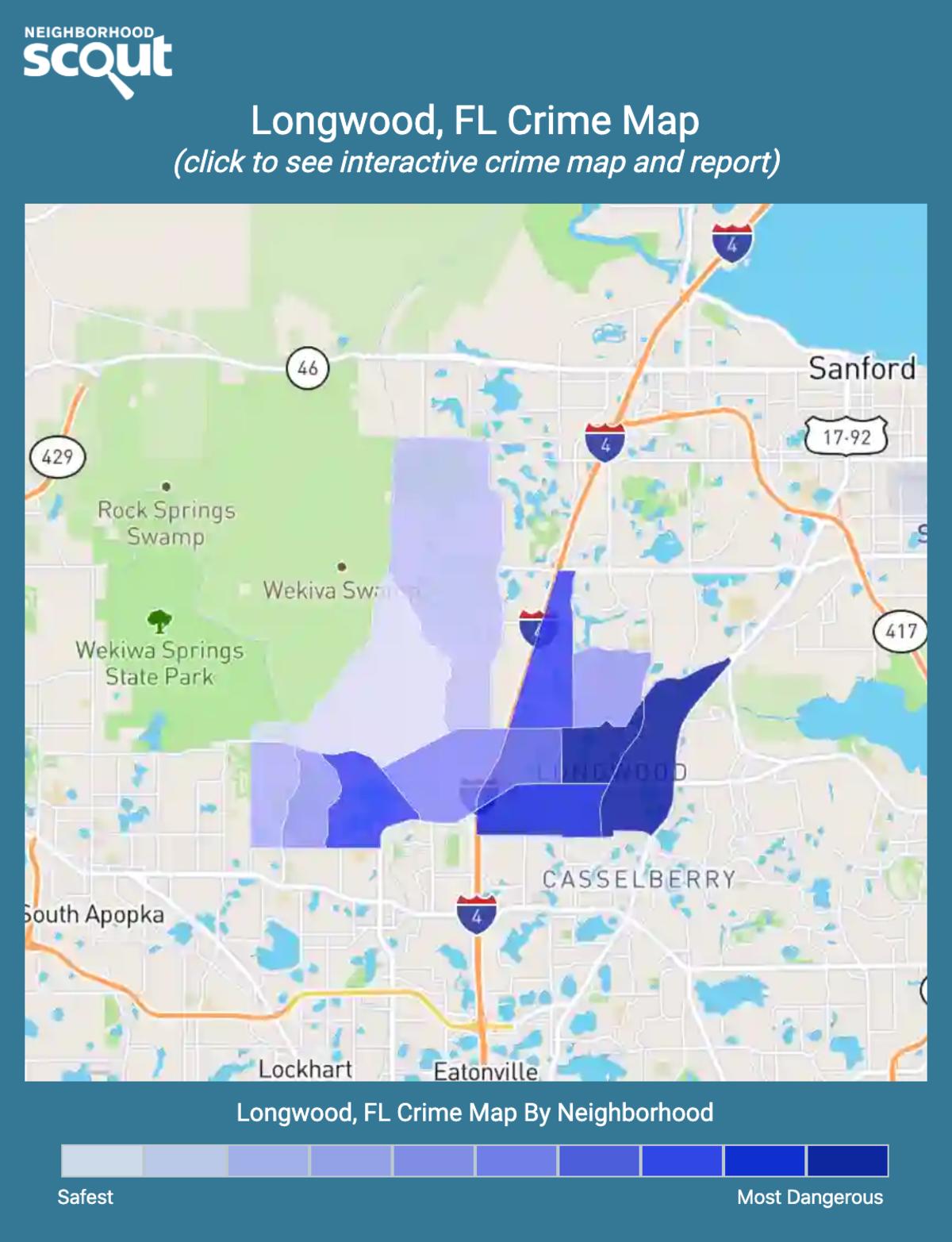 Longwood, Florida crime map
