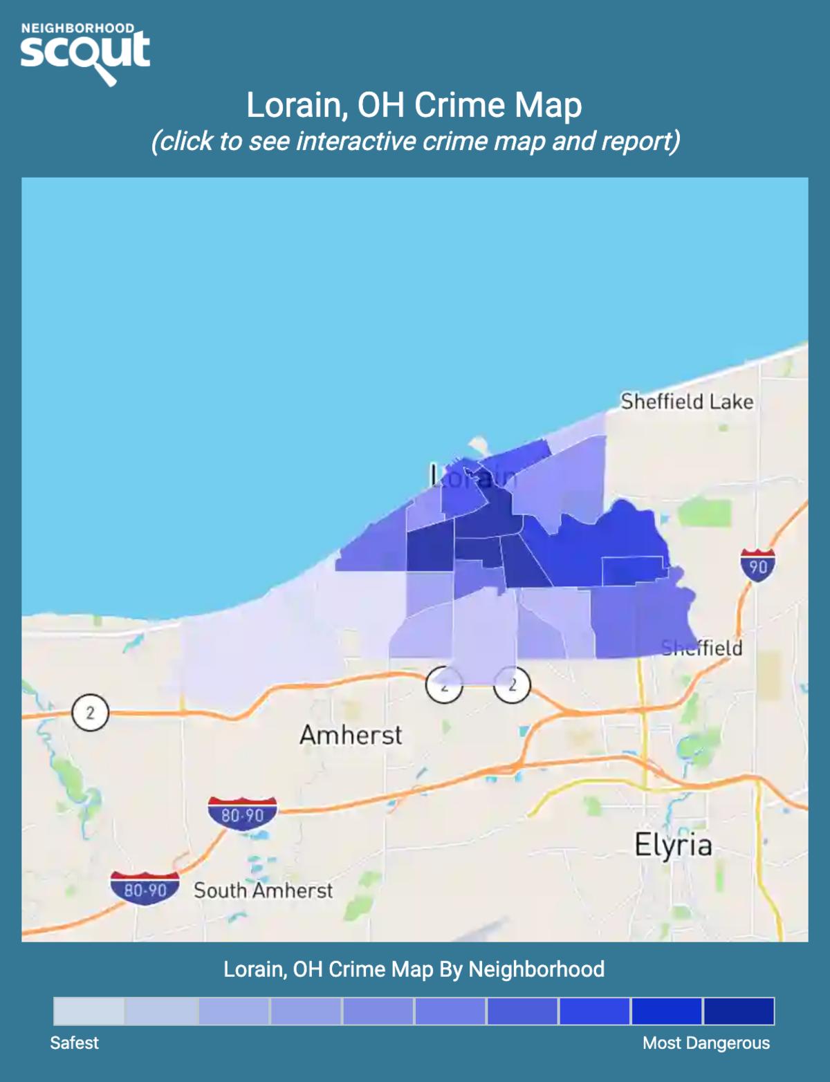 Lorain, Ohio crime map