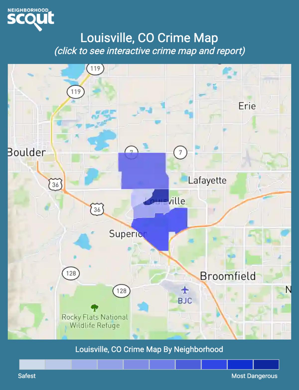 Louisville, Colorado crime map