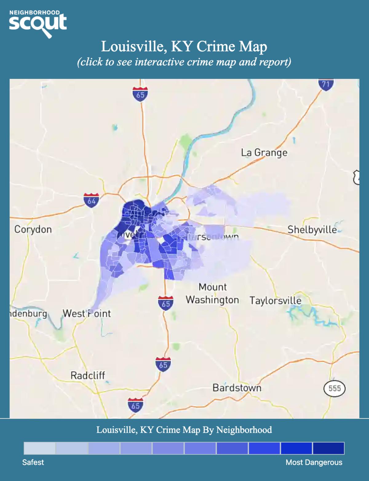 Louisville, Kentucky crime map