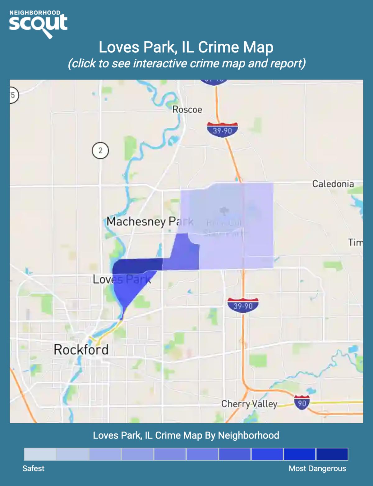 Loves Park, Illinois crime map
