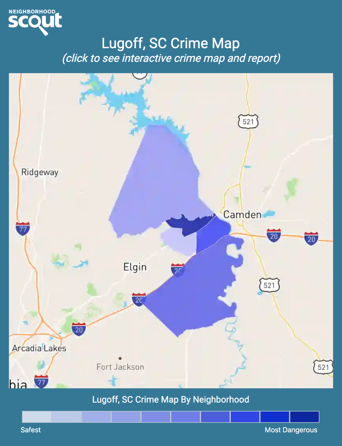 Lugoff, South Carolina crime map