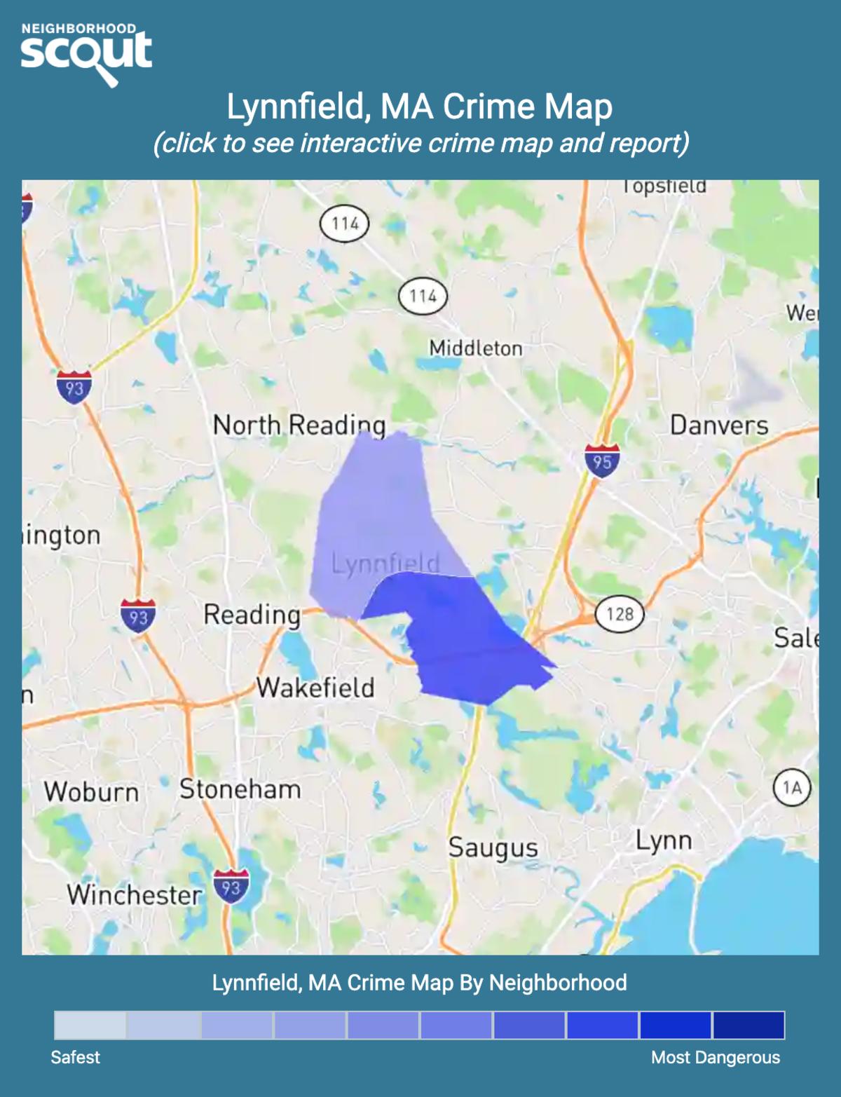 Lynnfield, Massachusetts crime map