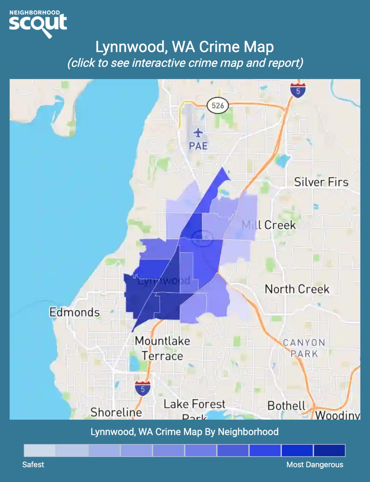 Lynnwood, Washington crime map