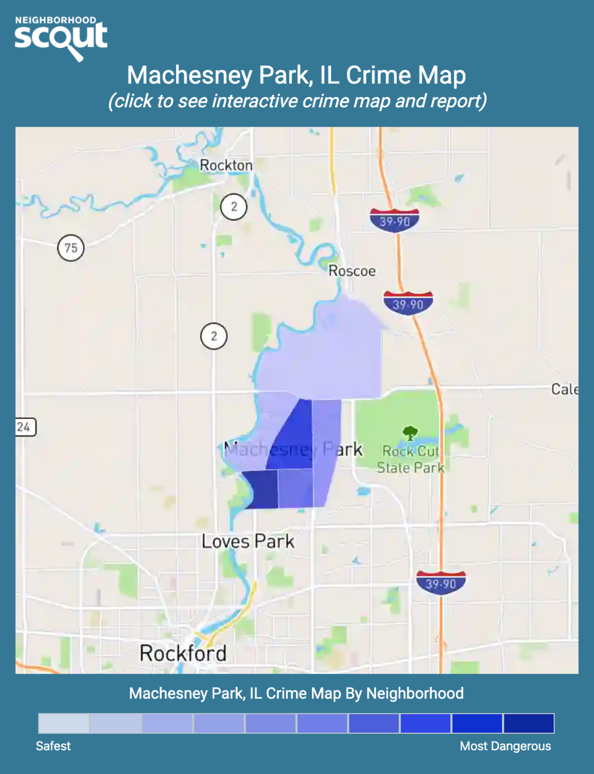 Machesney Park, Illinois crime map