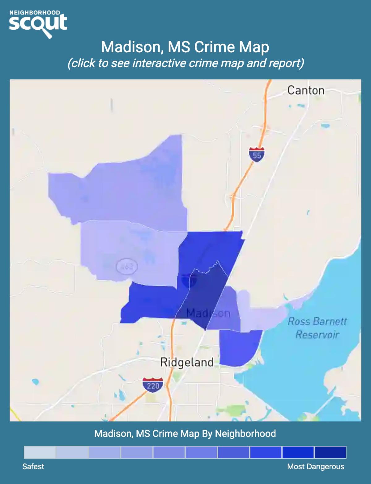Madison, Mississippi crime map