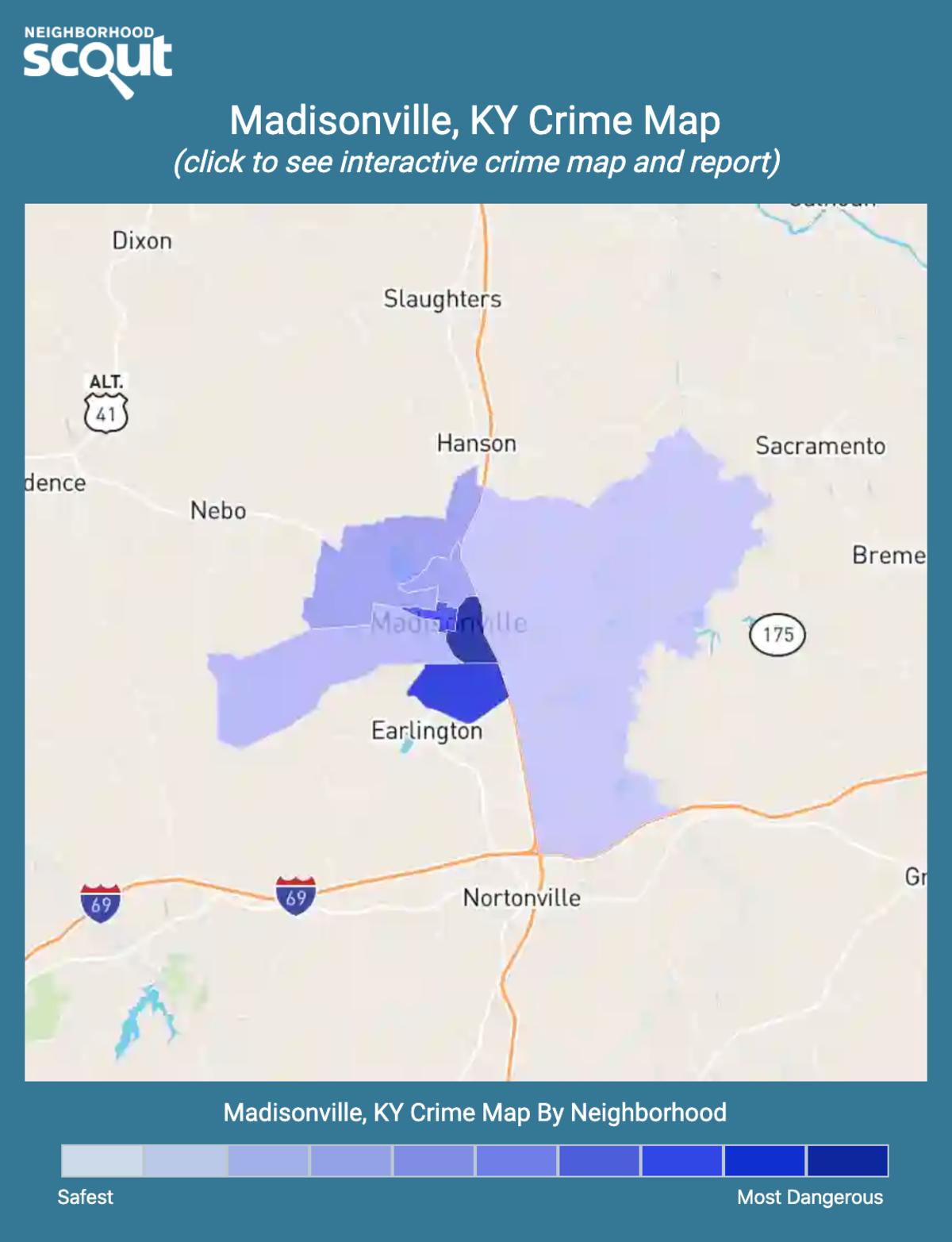 Madisonville, Kentucky crime map