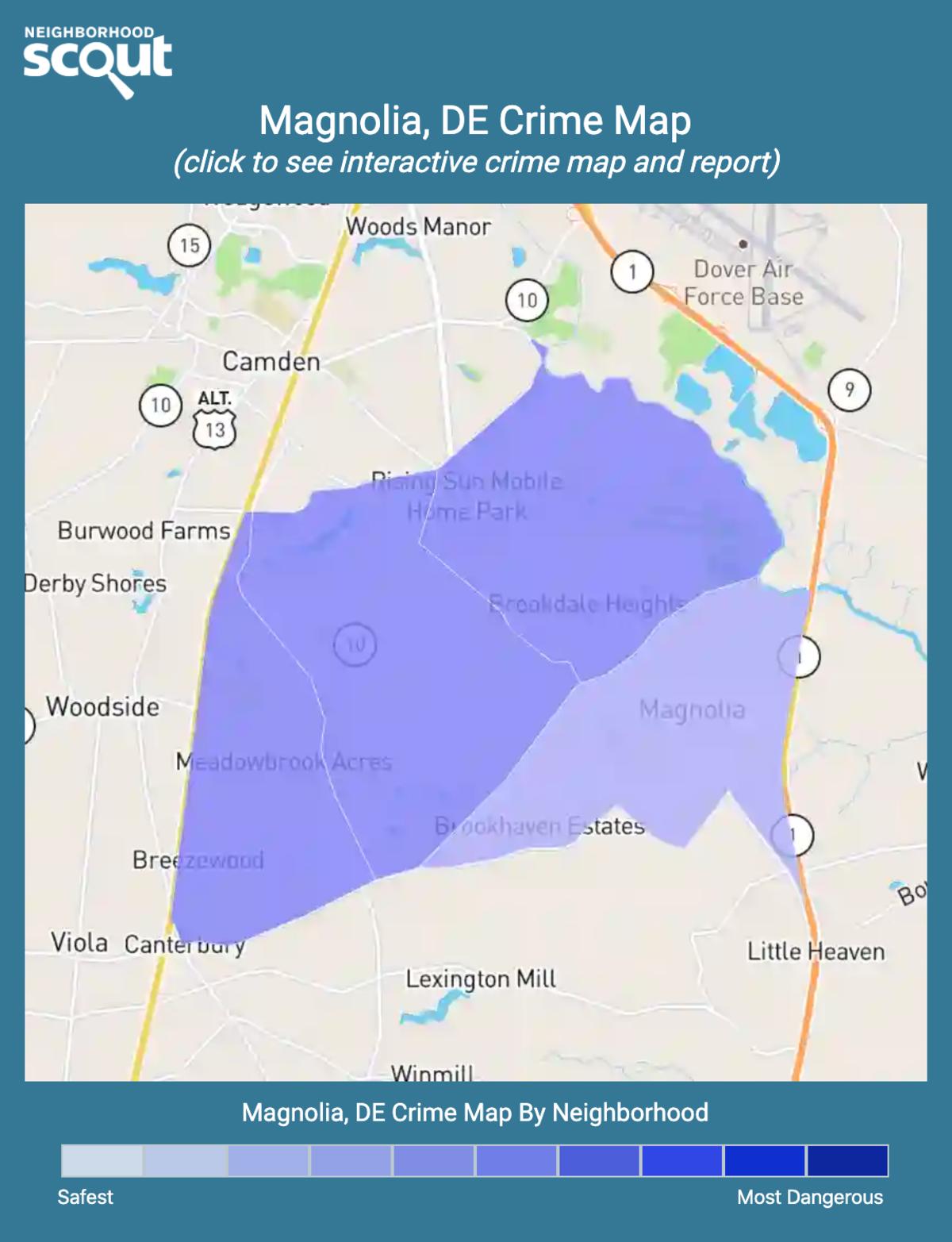 Magnolia, Delaware crime map