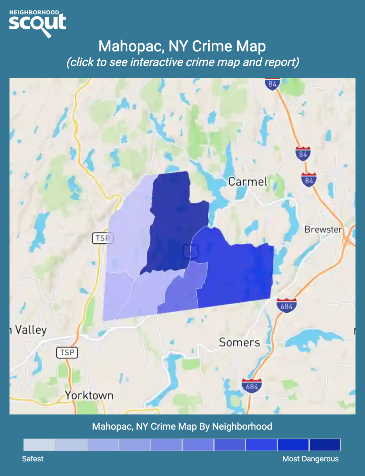 Mahopac, New York crime map