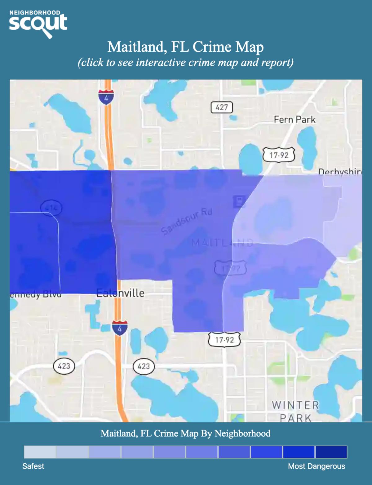 Maitland, Florida crime map