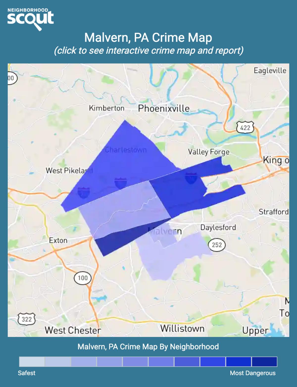 Malvern, Pennsylvania crime map