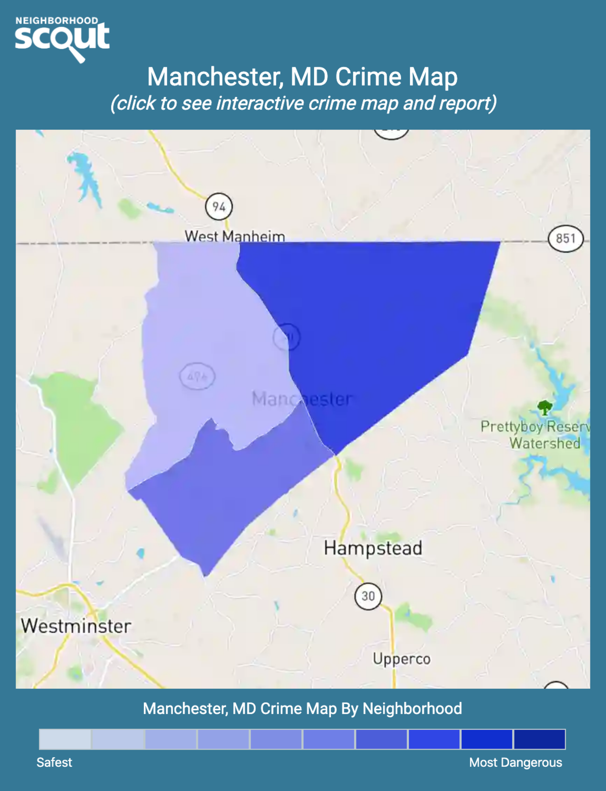 Manchester, Maryland crime map