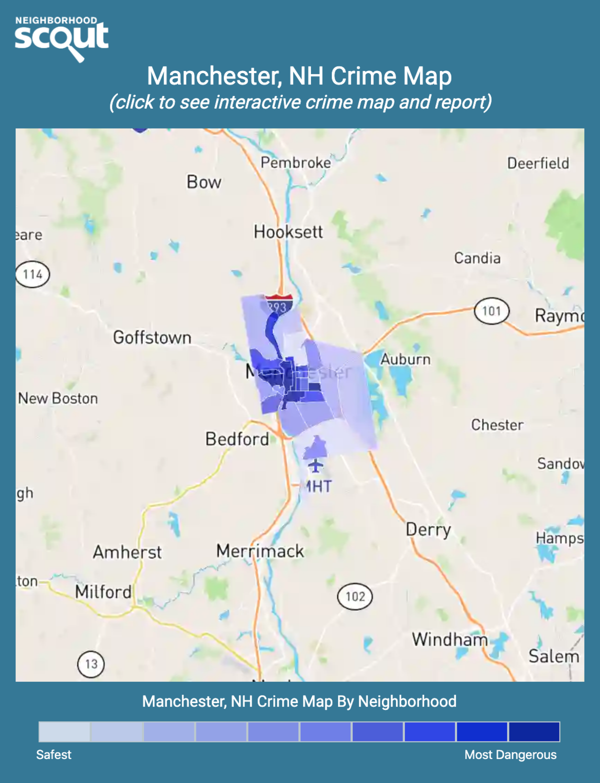 Manchester, New Hampshire crime map