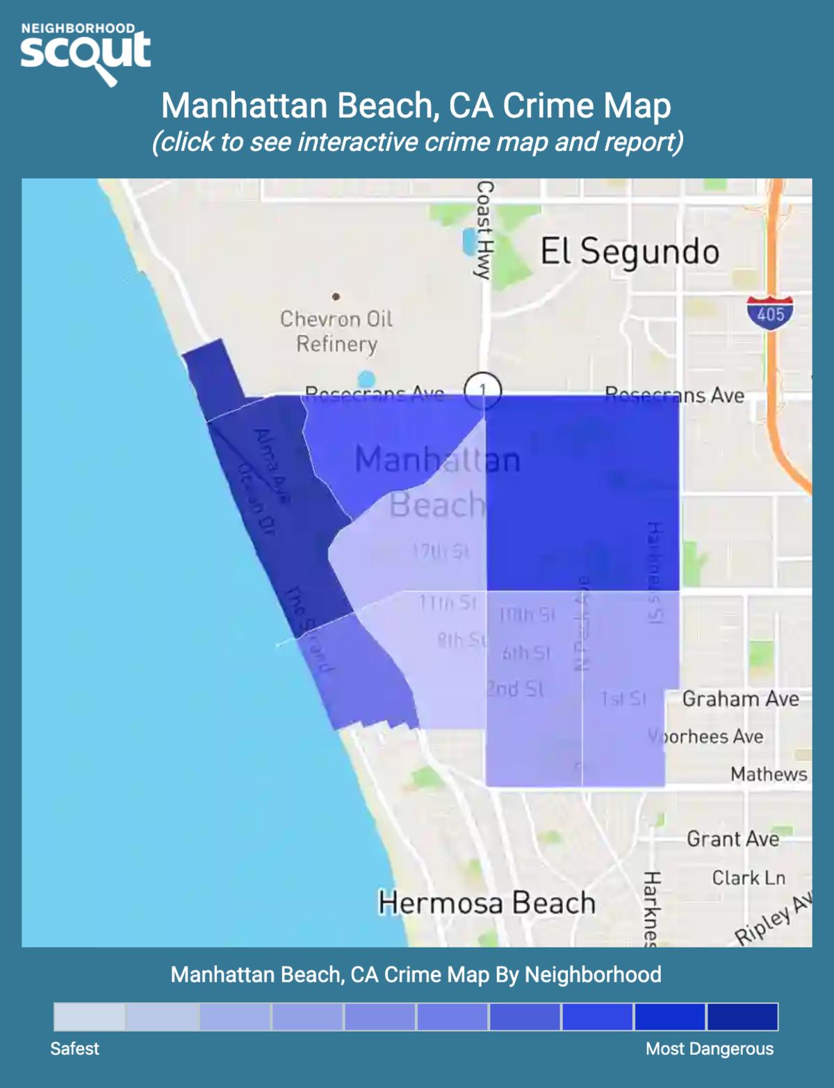 Manhattan Beach, California crime map