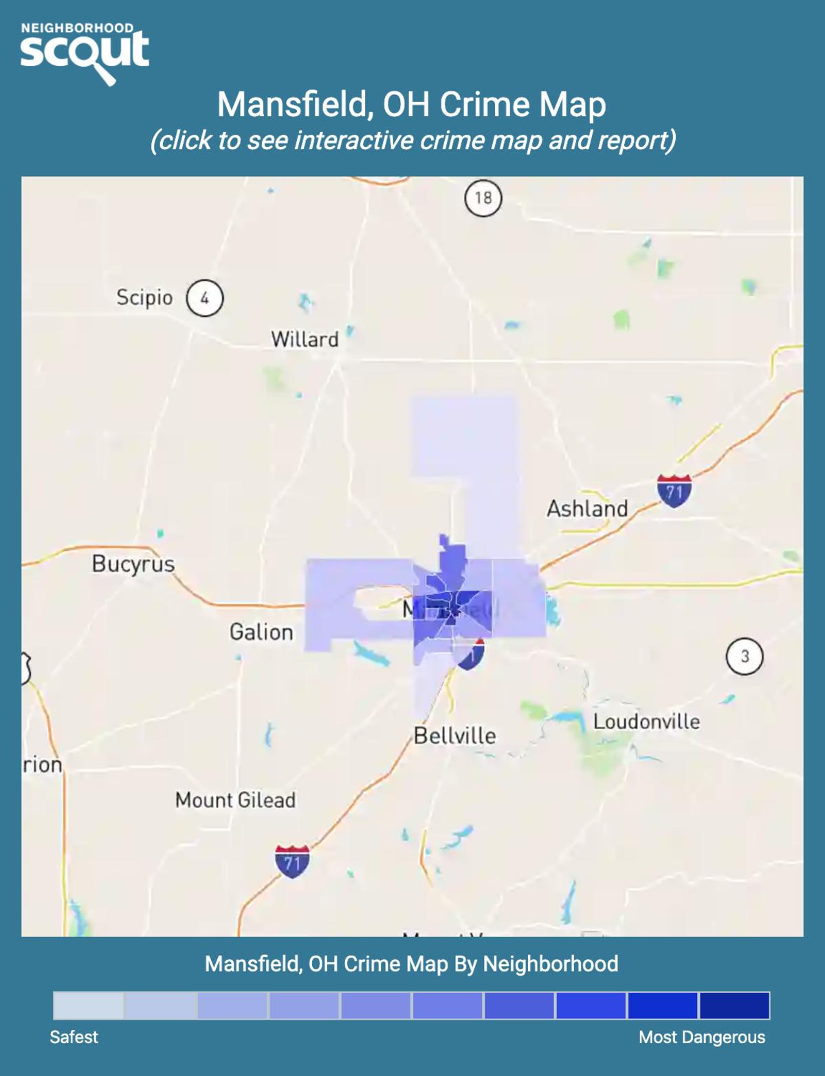 Mansfield, Ohio crime map