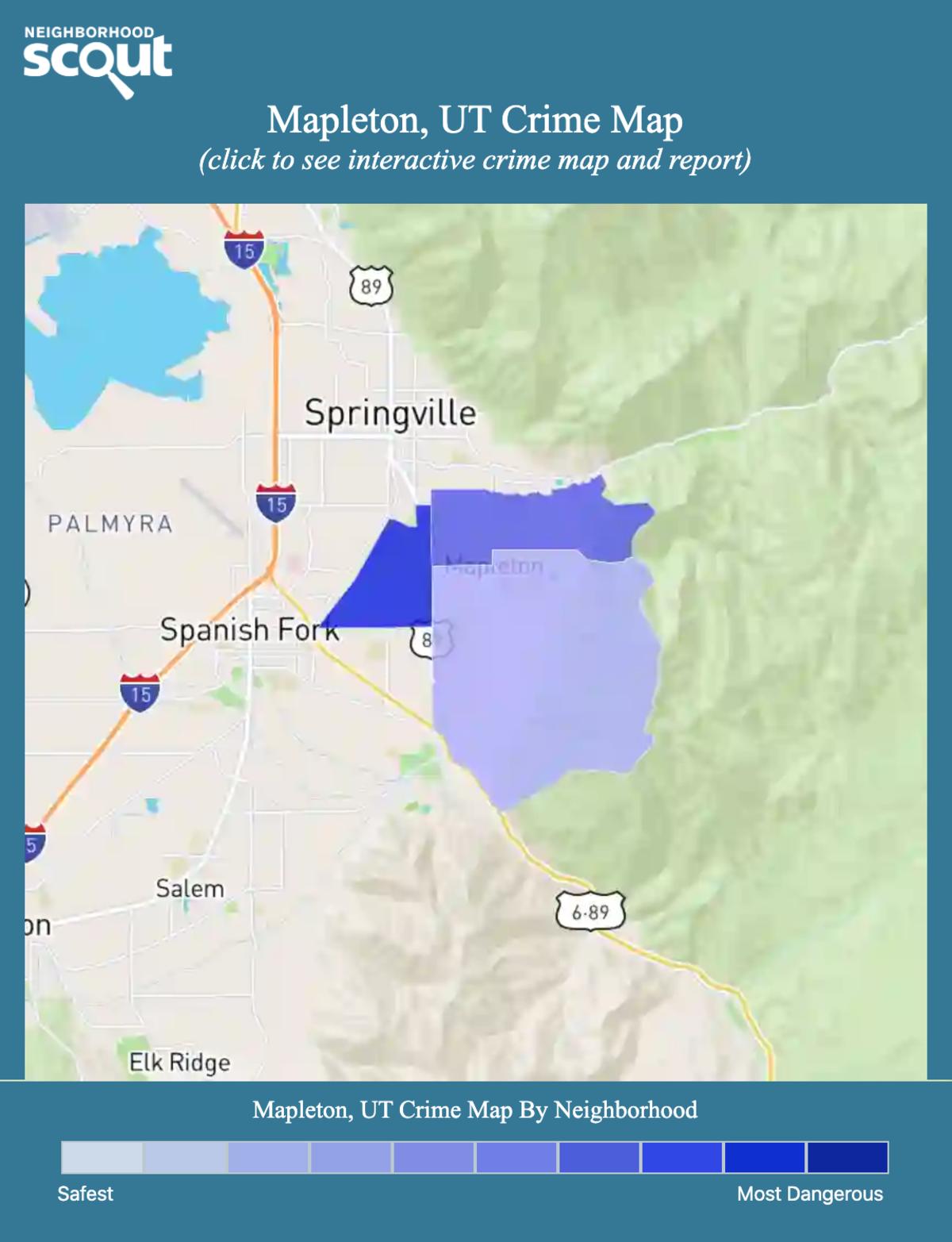 Mapleton, Utah crime map