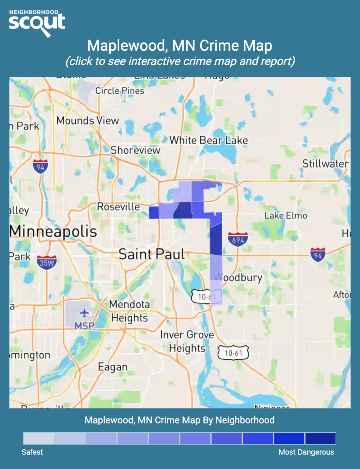 Maplewood, Minnesota crime map