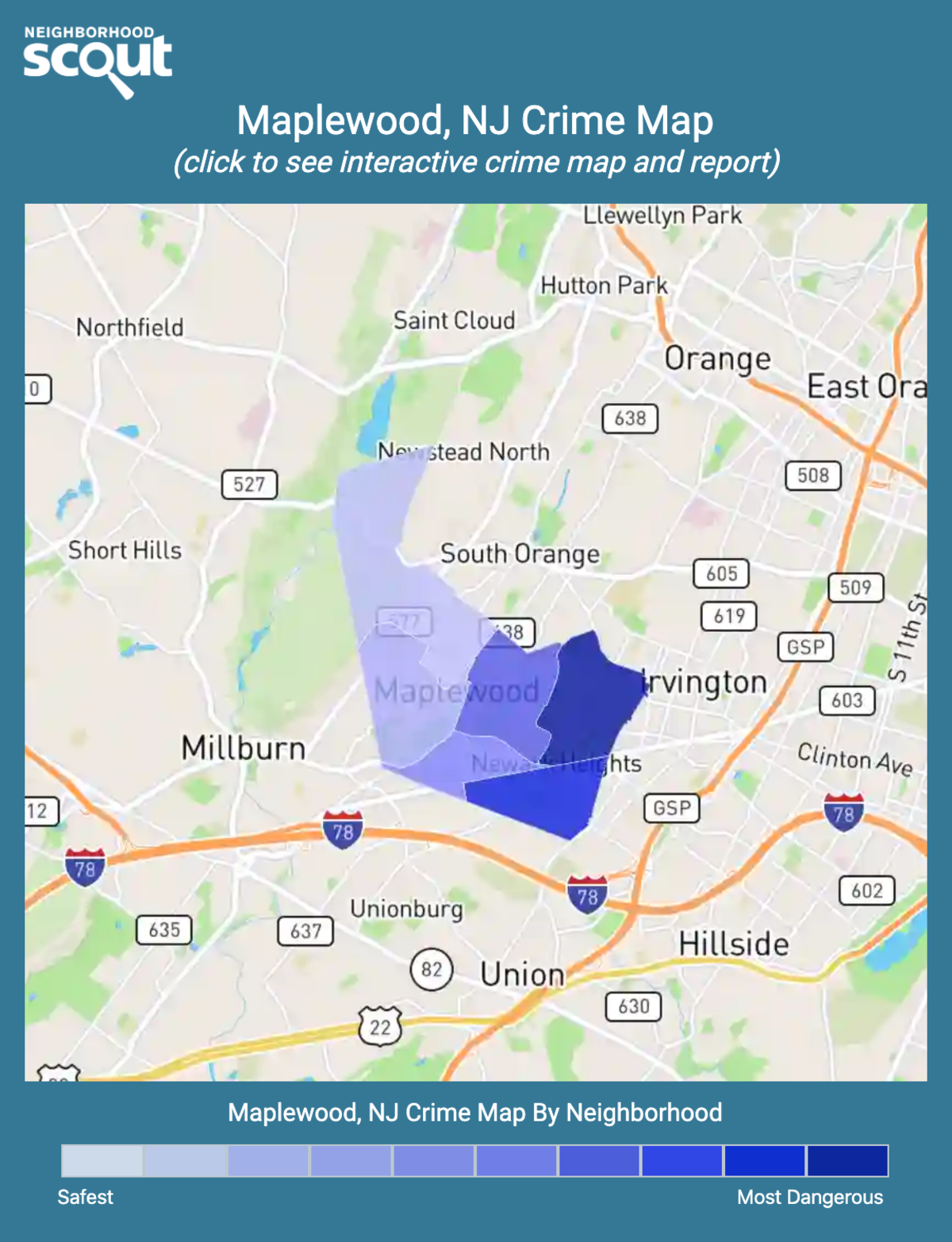 Maplewood, New Jersey crime map