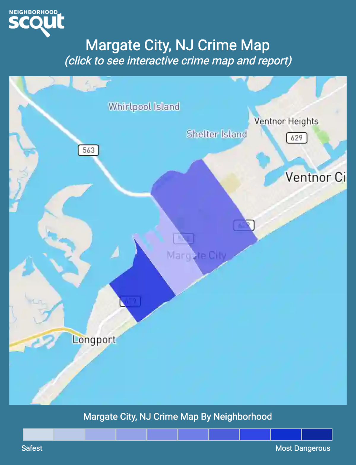 Margate City, New Jersey crime map