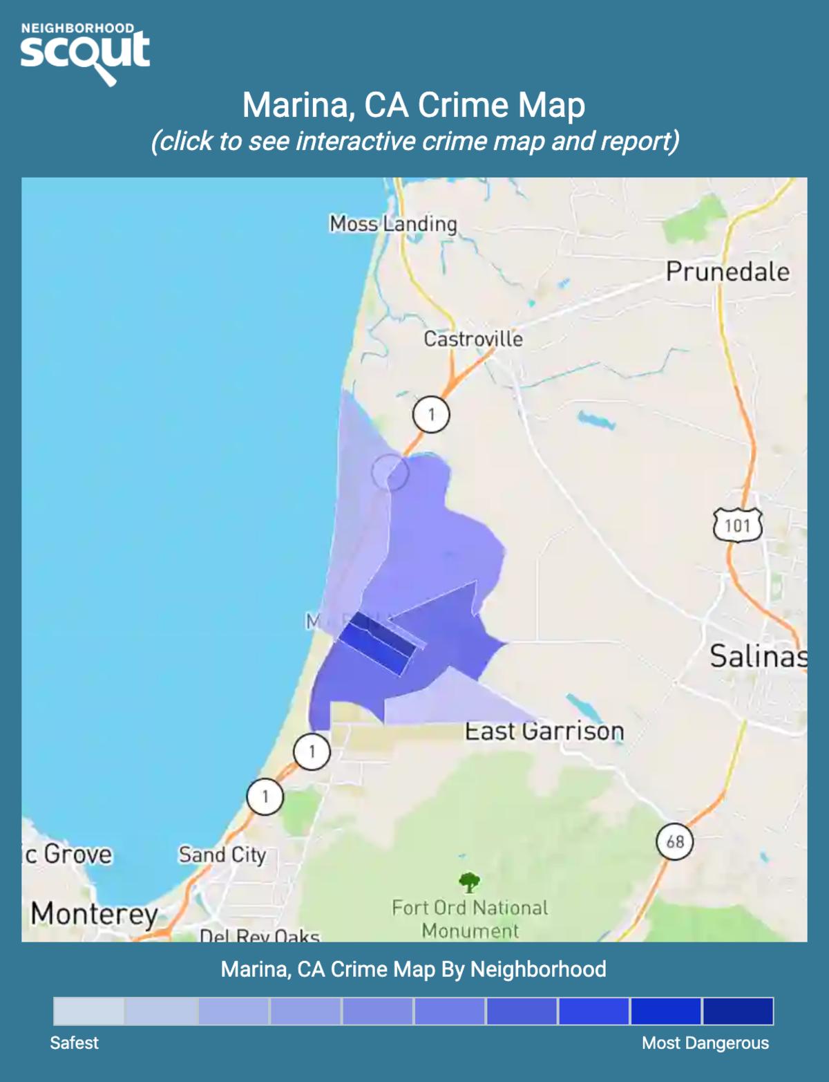 Marina, California crime map