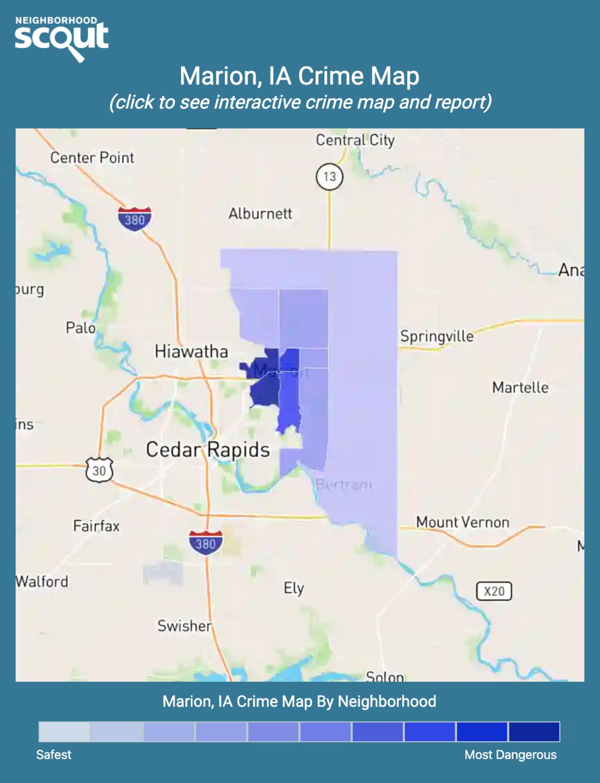 Marion, Iowa crime map
