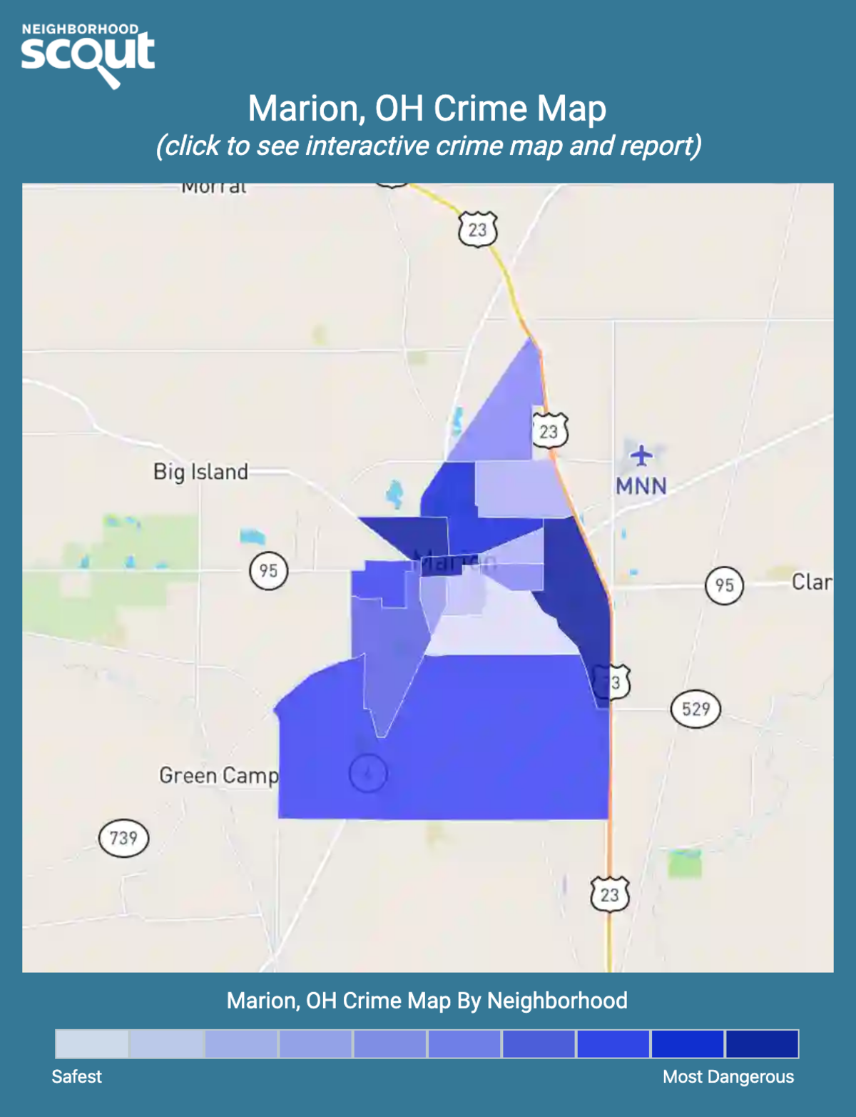 Marion, Ohio crime map
