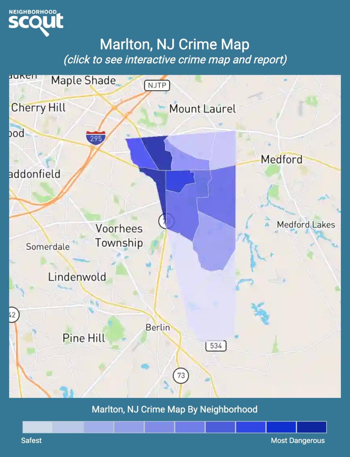 Marlton, New Jersey crime map