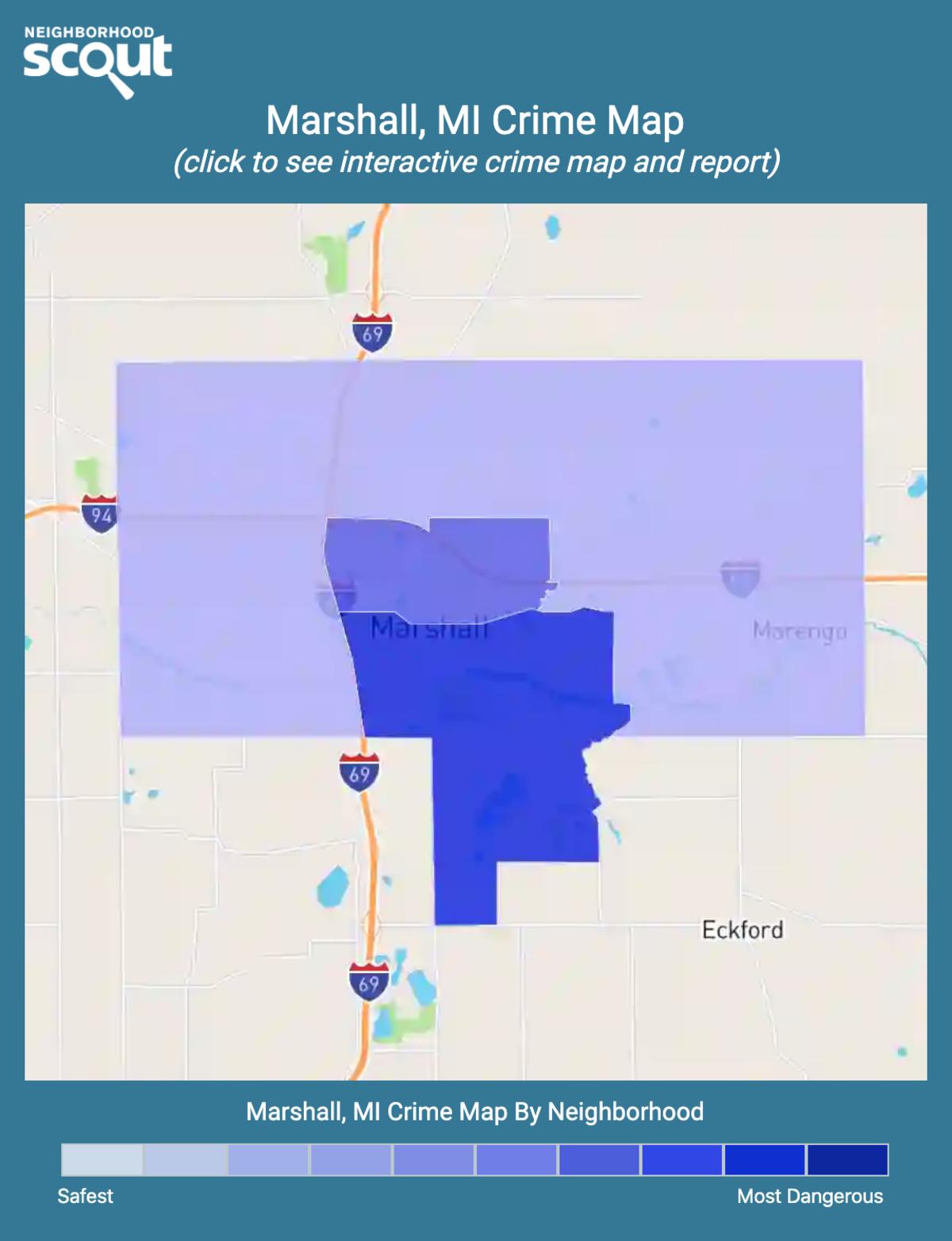 Marshall, Michigan crime map