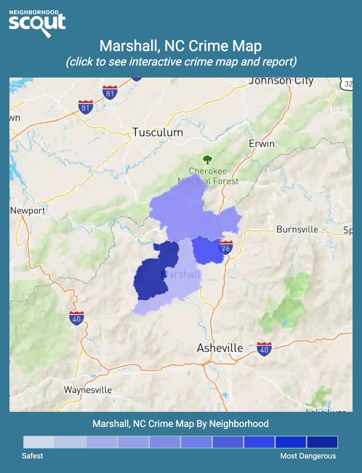 Marshall, North Carolina crime map