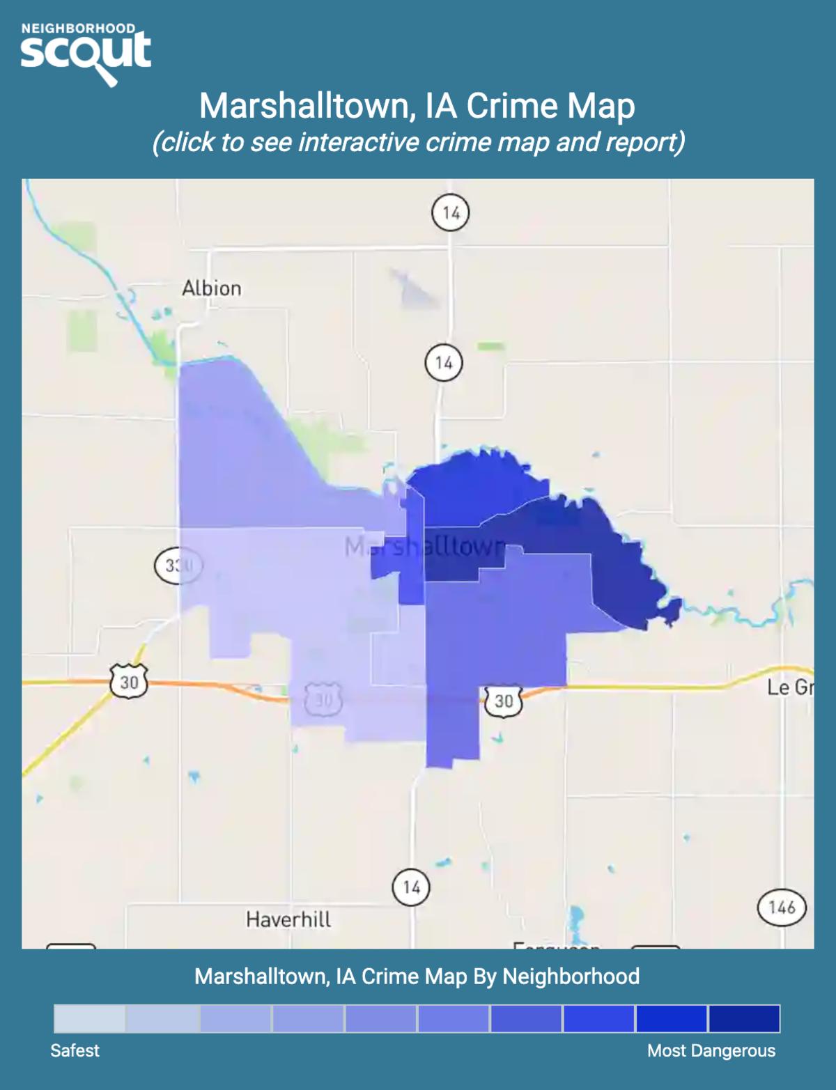 Marshalltown, Iowa crime map