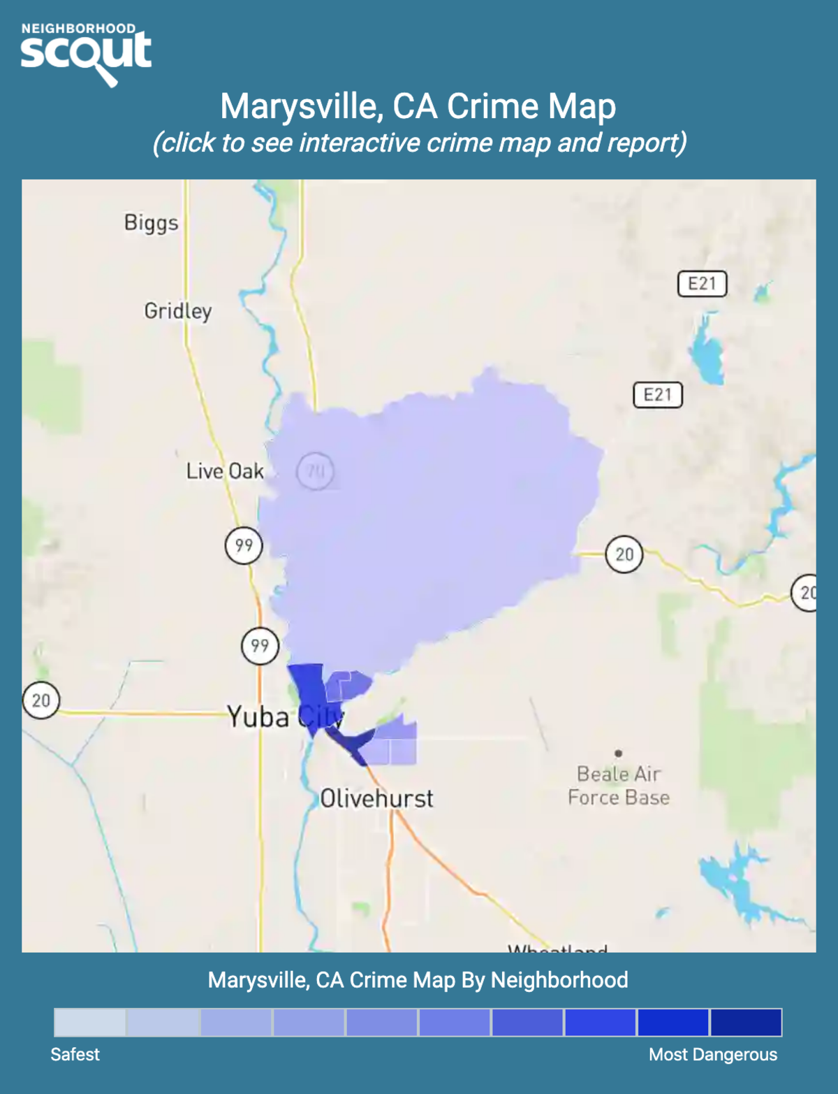 Marysville, California crime map