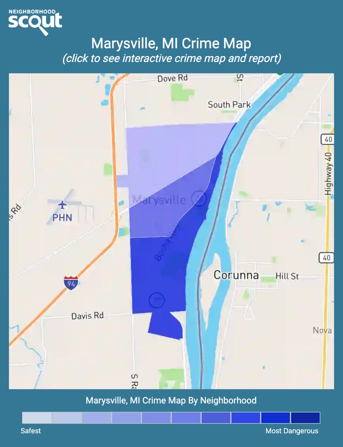Marysville, Michigan crime map